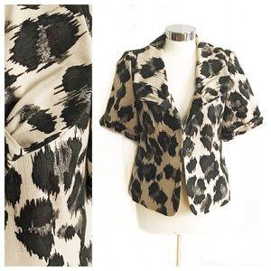 classiques entier Jackets & Blazers - Classiques Entier Shortsleeve Leopard Print Blazer