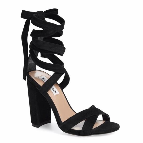 b2b2fa1cb57 Steve Madden Christey Wraparound Ankle Tie Sandal.  M 58e146548f0fc42dda089257