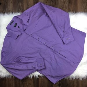 Arrow Other - Men's Button Down Shirt Arrow Fitted in Purple