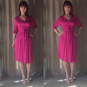 Dresses & Skirts - NWT FUCHSIA LONG SKEEVE DRESS