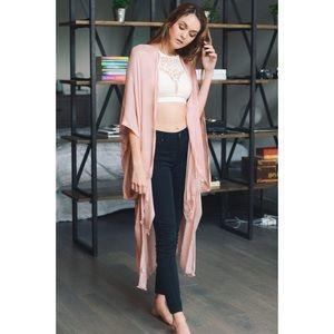 likeNarly Tops - Sweet Slendor Kimono - Blush
