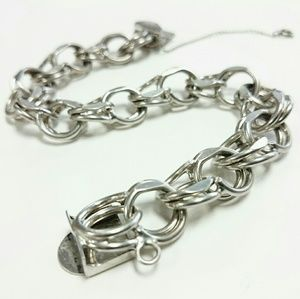 Jewelry - Vintage Solid Sterling Silver 925 Chain Bracelet