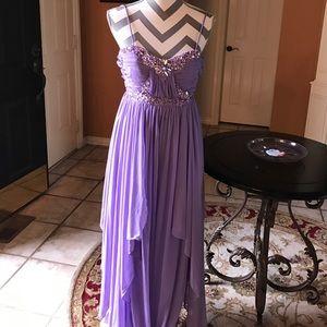 City Studio Dresses & Skirts - 🆕 Brand new long Lavender spaghetti formal dress