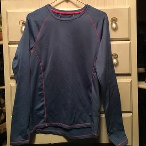 Blue w/ hot pink stitching, fleece lined. By RBX