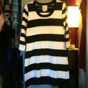 Pink Rose Dresses & Skirts - Black & white striped dress