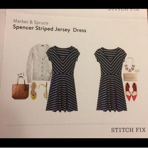 Market and Spruce striped dress. Sz S.