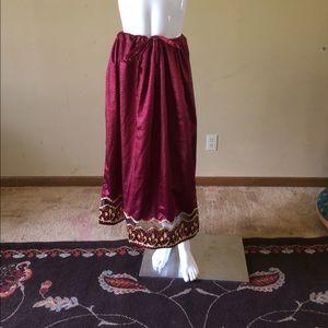 The African Scene Dresses & Skirts - The African Scene Skirt Meetu Magic Maroon Gold