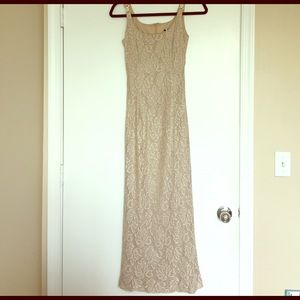 Dresses & Skirts - Preloved gold lace gown