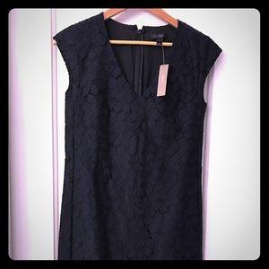 NWT Jcrew Blue & Black Lace Dress-Size 0