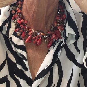 Handmade Bamboo Coral Necklace