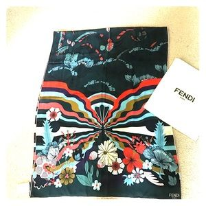 Fendi 100%silk scarf