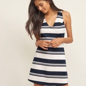 Abercrombie & Fitch Dresses & Skirts - 🆕 Striped A-line neoprene skater dress