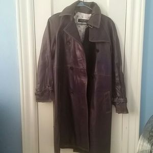 Andrew Marc Jackets & Blazers - Marc New York Deep Purple Leather trench