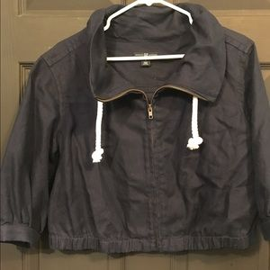 GAP Jackets & Blazers - Navy Gap zip front jacket