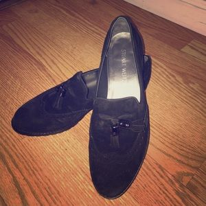 Authentic Stuart Weitzman suede loafers