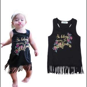 Other - Boutique Baby Toddler Girl T-shirt Fringe Dress