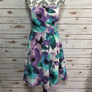 The Limited Floral Strapless Dress