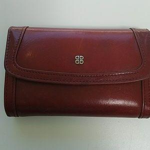 Bosca Accessories - Bosca Dark Red Stunning Leather Folding Wallet