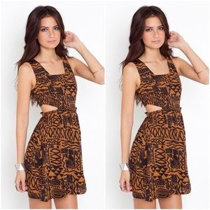 🎉 SALE NASTY GAL Ark & Co Tribal Cut Out Dress