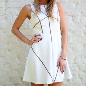 C. Luce Dresses & Skirts - White Mesh Cut-Out Dress