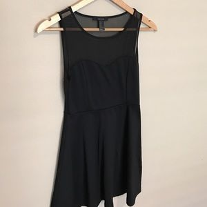Black sweetheart A line dress