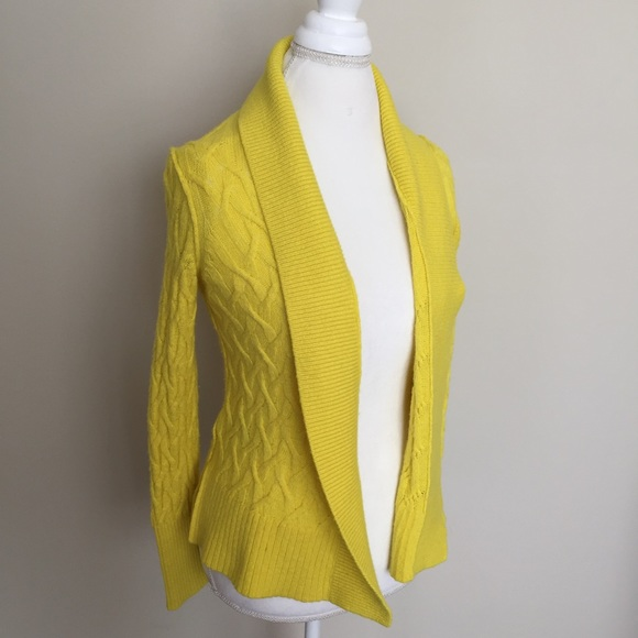 81% off LOFT Sweaters - Ann Taylor Loft Bright Yellow Open ...