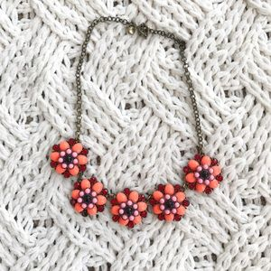 J. Crew Flower Necklace