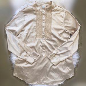 CAbi ruffle layered blouse