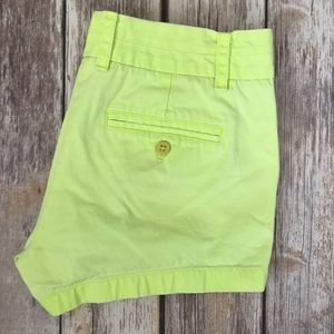 J. Crew Pants - J Crew Neon Yellow Chino Shorts