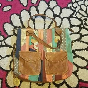 Multicolored Fossil Bag
