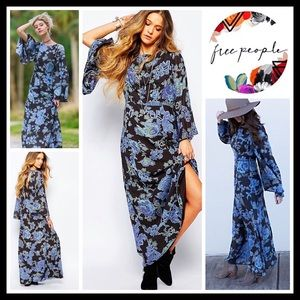 ⭐⭐ FREE PEOPLE Printed Maxi Dress