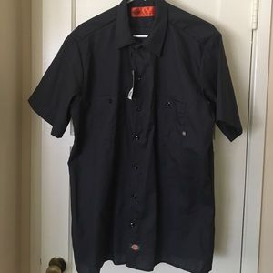 Dickies Other - Brand new Navy Blue dickies work shirt size Large