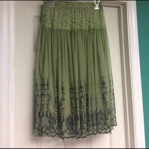 One Size Sage/Black skirt
