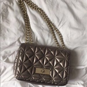 Kate Spade Quilted Silver bag
