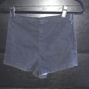 F21 High waist stretch denim shorts