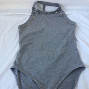 Topshop Tops - TopShop Studded Strappy Back Bodysuit (NWT)
