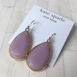 Kate Spade Large Pink Teardrop Earrings