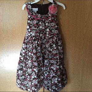 Bonnie Jean Other - Bonnie Jean Brown Pink White Floral Easter Dress