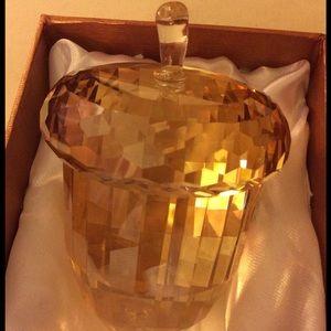 Oleg Cassini Accessories - Oleg Cassini - Crystal Amber Paperweight Acorn