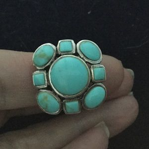 Jewelry - SOLD SilverCluster Turquoise Ring