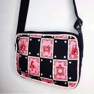 Handbags - Pink Black Cinderella Fairy Tale Playing Card Bag
