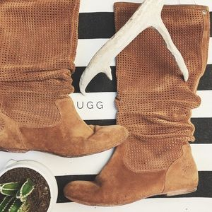 Ugg 'Abilene' Chestnut Suede Boots