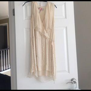 MaxAzria Gorgeous cream dress with beading Xs