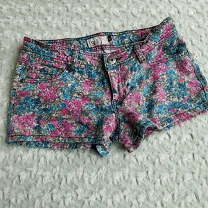Floral Denim Shorts SZ 5