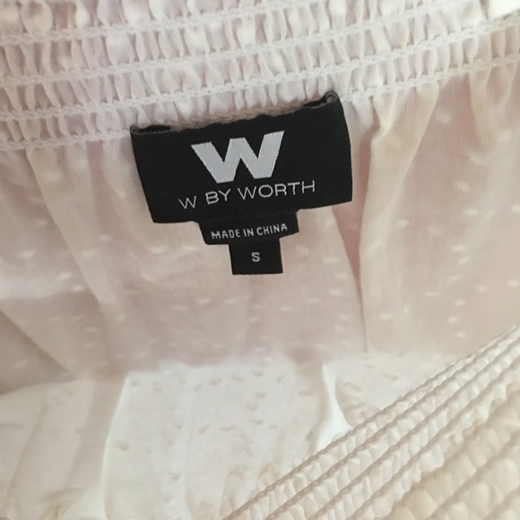 W by Worth Tops - W by Worth white cotton top