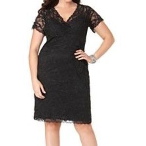 Marina Dresses & Skirts - Marina Plus Size Cap Sleeve Lace Cocktail Dress