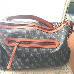 Dooney & Bourne Denim Hobo Satchel Authentic
