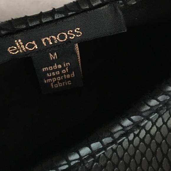 Ella Moss Tops - Ella Moss black dressy tee