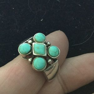 Jewelry - *SOLD* Turquoise Small Cluster Navajo Ring