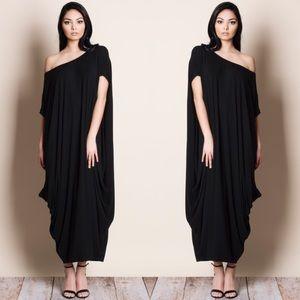 Off Shoulder Loose Maxi Dress